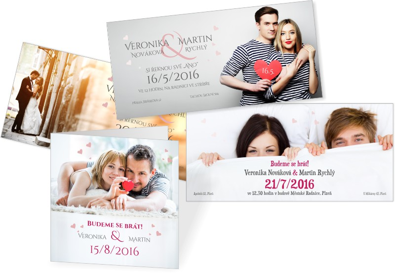 Svatební oznámení s vlastní fotografií